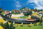 Faller 222542 N Scale 4 Curved Bridge Pieces Radius 1